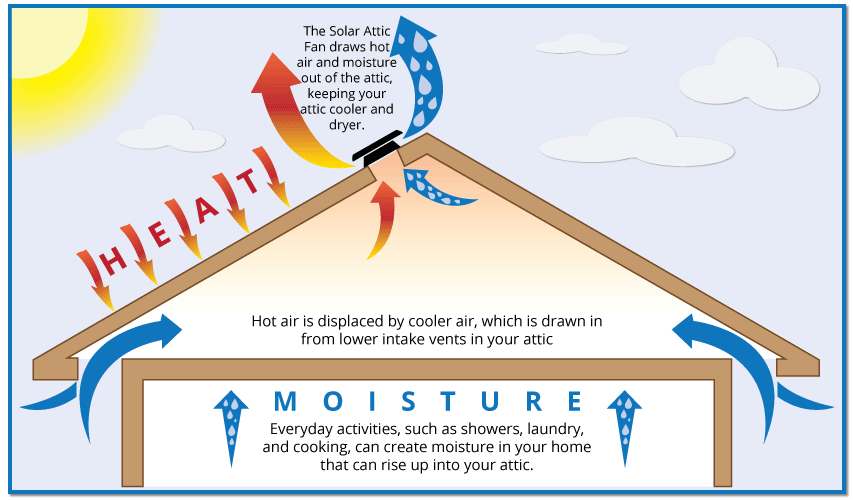 Illustration of attic ventilation